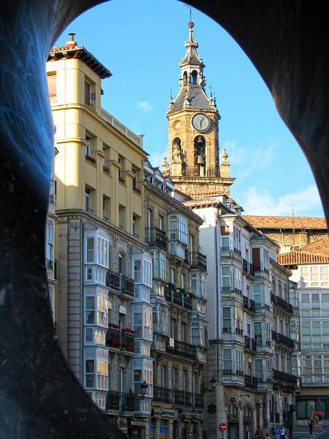Vitoria, Plaza, Bell Tower, Virgin White, Balconies