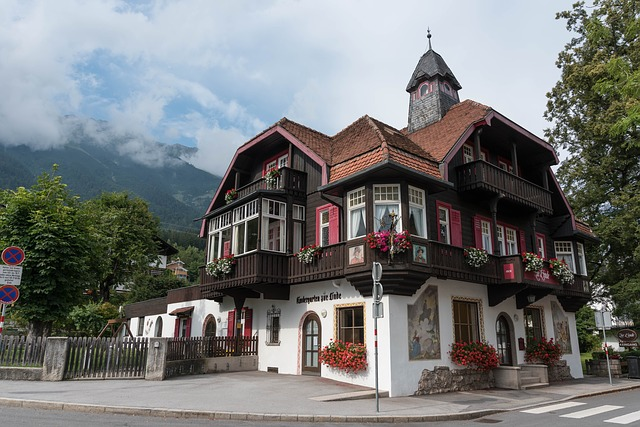Tyrol, Building, Home, Balcony, Wood, Architecture