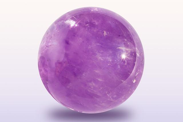 Amethyst, Ball, Violet, Purple, Quartz, Transparent
