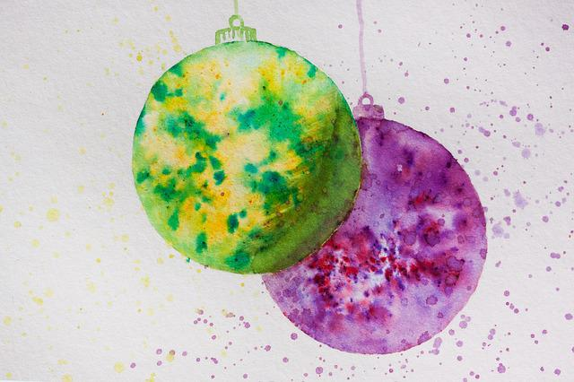 Christmas, Map, Ball, Christmas Ornament, Yellow, Green