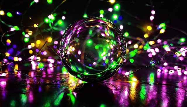 Crystal Ball-photography, Ball, Lights, Colorful, Magic