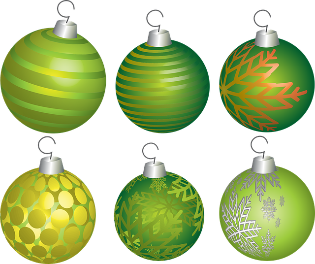 Christmas, Holiday, Ball, Decoration, Ornament, Green
