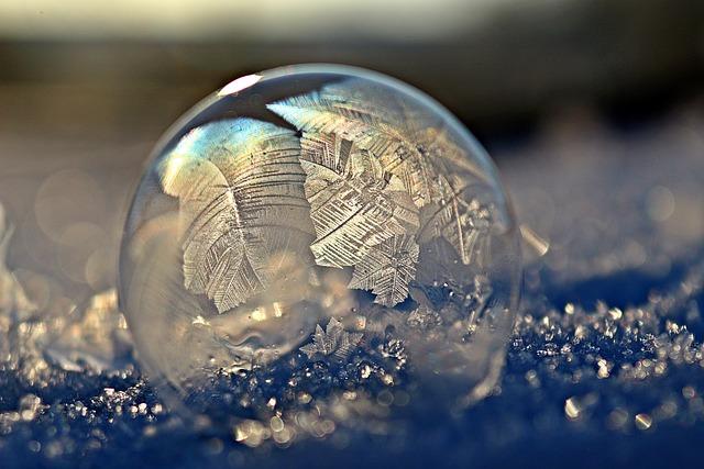 Frost Bubble, Soap Bubble, Ball, Eiskristalle