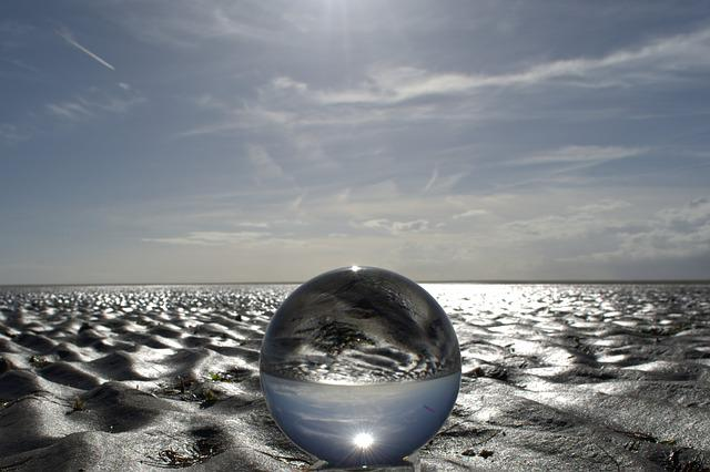 Globe Image, Ball, Glass, Glass Ball, Beach, Watts