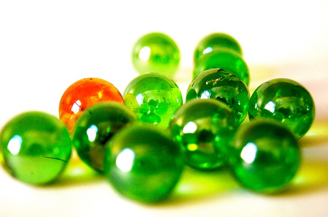 Glass, Marble, Colorful, Green, Pearl, Roll, Ball