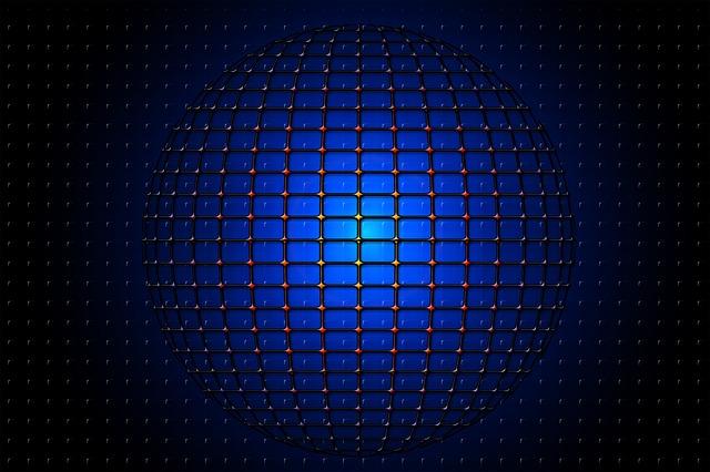 Ball, Round, Web, Network, Grid, Futuristic, Template