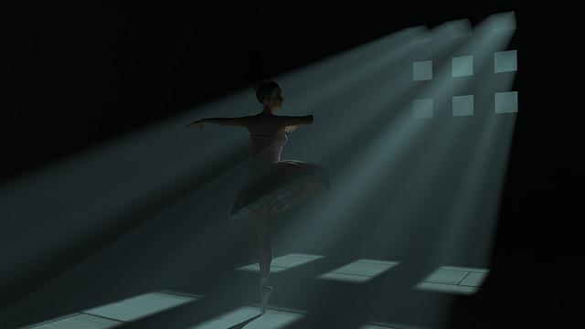 Ballet, 3d Dance, Shadows, Dance, Dark, Ballet Dancer