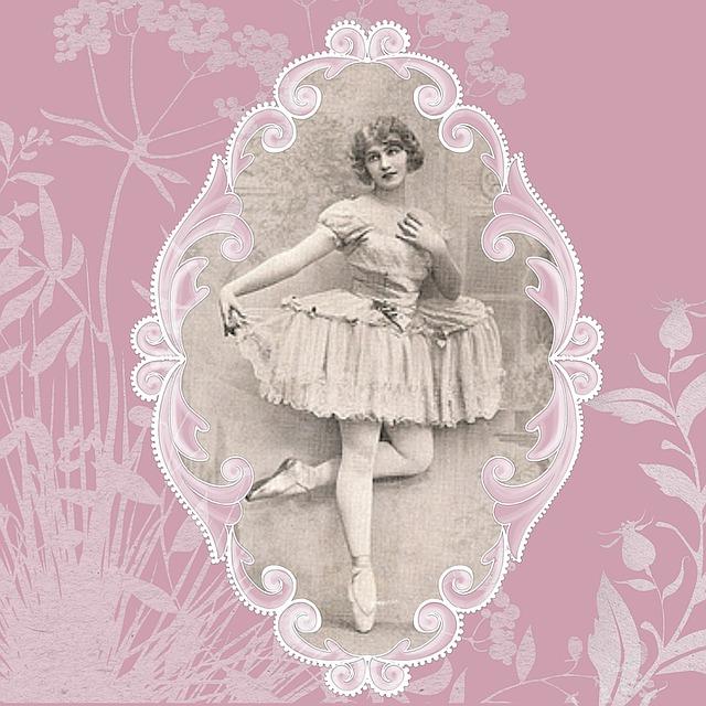 Lady, Ballerina, Ballet, Vintage, Lace, Message