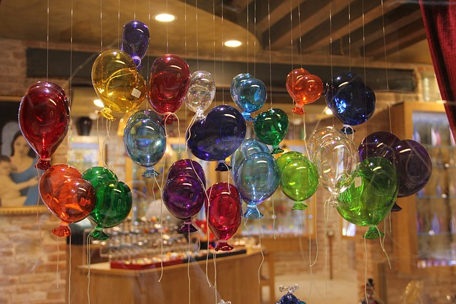 Glass Blowing, Glass, Balloons, Ballons, Colorful, Joy