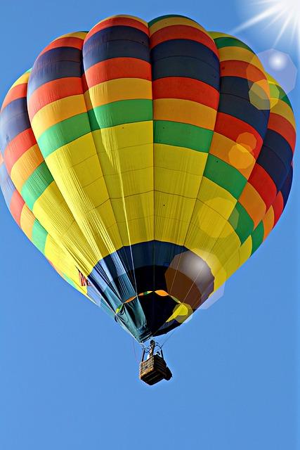 Hot, Air, Balloon, Hot Air Balloon Ride