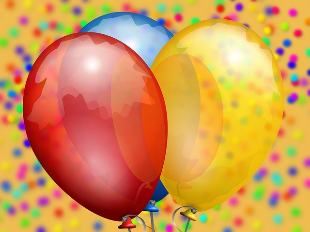 Balloon, Confetti, Carnival, Colorful, Party, Red