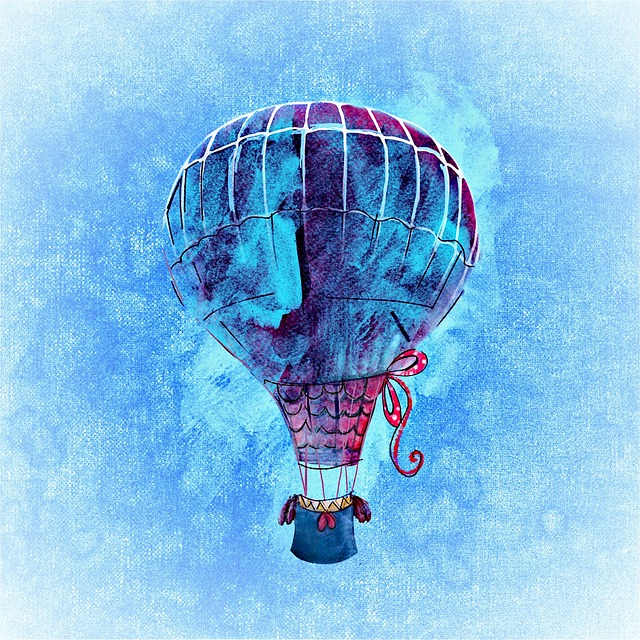 Balloon, Colorful, Fly, Sky, Watercolor, Blue, Freedom