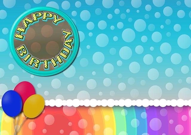 Birthday, Balloons, Button, Happy Birthday, Air Bubbles