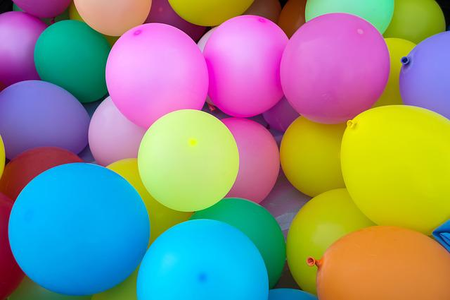 Balloons, Children, Color Balloons, Colors, Fiesta