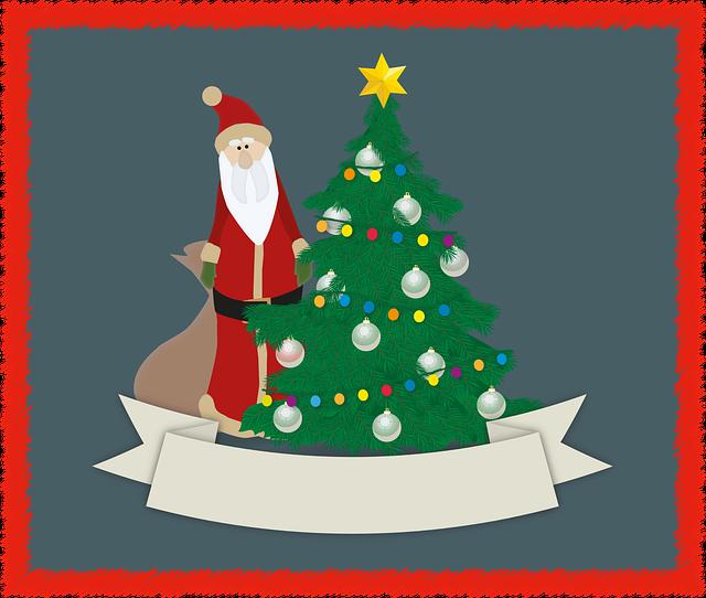 Christmas, Greeting Card, Christmas Tree, Balls, Star