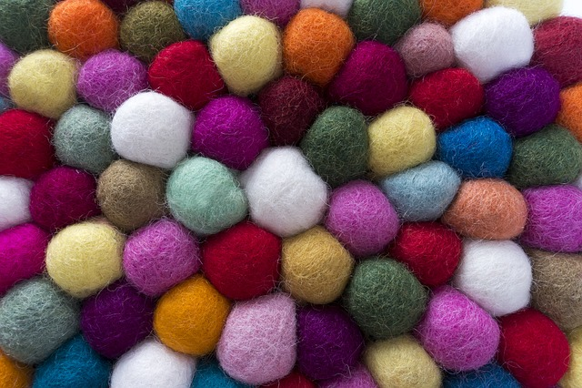 Felt, Balls, Sheep's Wool, Natural Product
