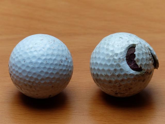 Golf Balls, Golf, Balls, White, Broken, Battered, Saji