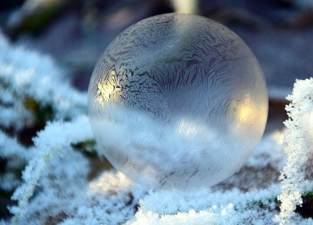 Bubble, Soap Bubble, Balls, Winter, Cold, Frost