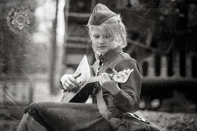 Girl, Balolajka, Victory Day, 9maâ, George's Ribbon