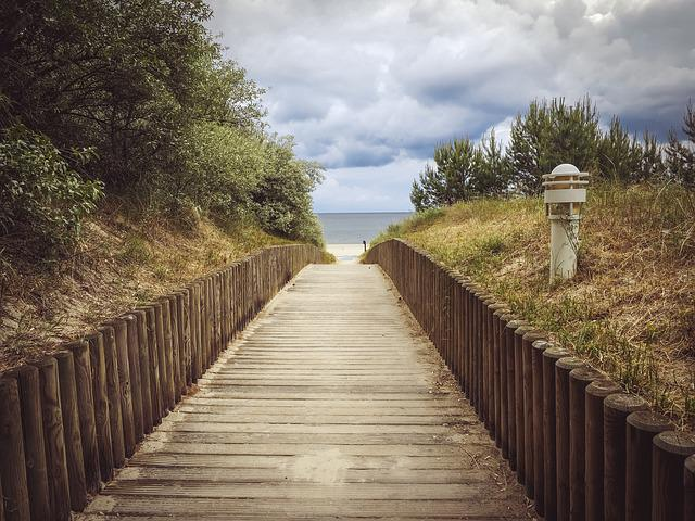 Beach, Away, Web, Strandweg, Sea, Baltic Sea, Sea View