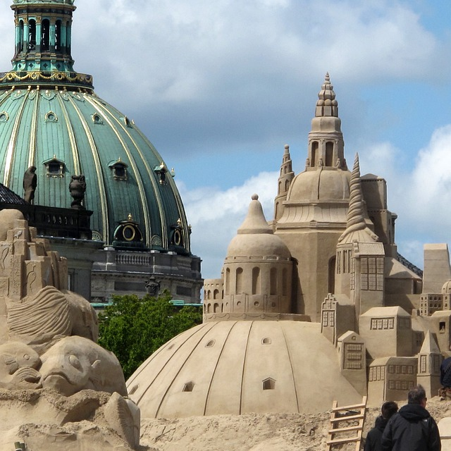 Baltic Sea, Denmark, Copenhagen, Dom, Sand Art