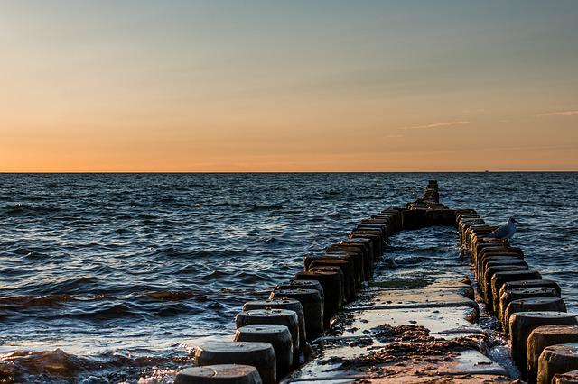 Ostseebad Ahrenshoop, Groynes, Baltic Sea, Water, Swim