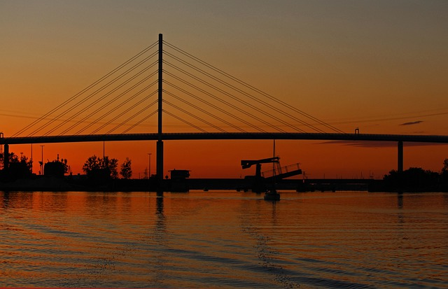 Stralsund, Rügen Bridge, Strelasund, Baltic Sea, Rügen