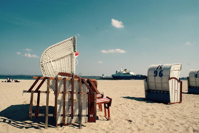 Baltic Sea, Beach Chair, Travemünde