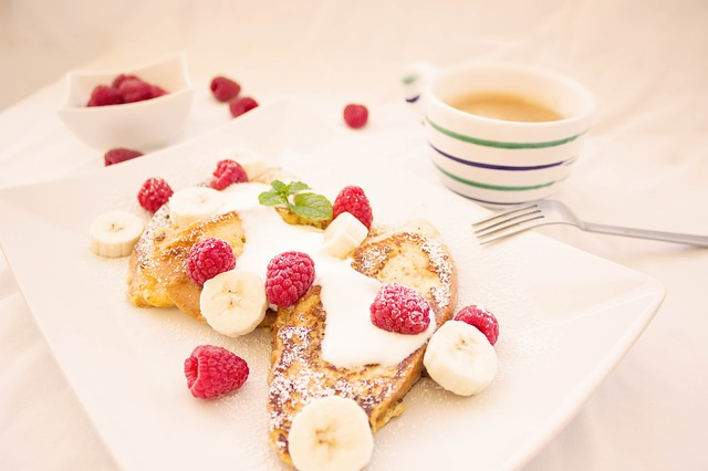 Toast, Berries, Breakfast, Banana, Coffee, Eat, Fruits
