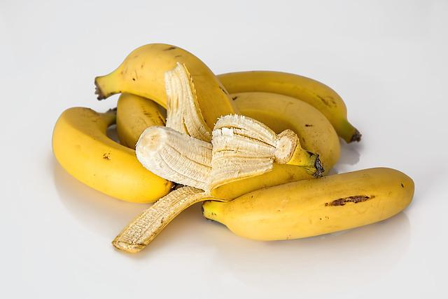 Bananas, Fruits, Ripe, Fresh, Organic, Produce