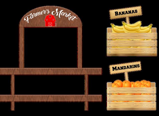 Crate Of Fruit, Bananas, Mandarins, Wooden Box
