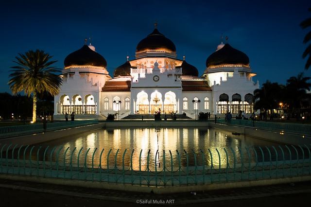 Mosque, Banda Aceh, Aceh, City, Islamic, Building