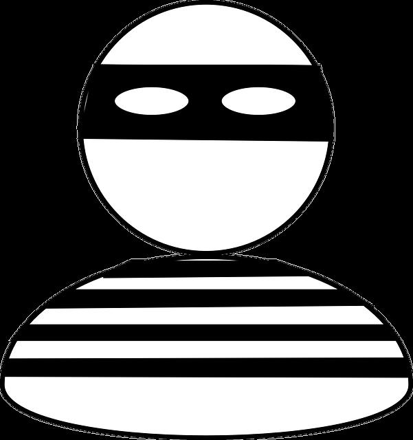 Robber, Burglar, Bandit, Stripes, Thief, Criminal