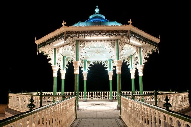 Brighton Bandstand, Night, Architecture, Bandstand