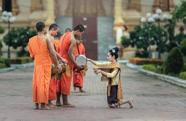 Monks, I Pray, Bangkok, Asia, The Symbol, Believe