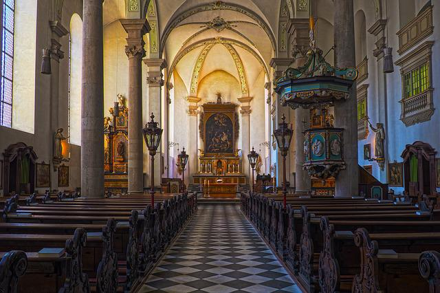 Church, Altar, Architecture, Bank, Religion, Within