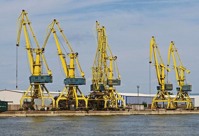 Romania, Bank Of The Danube, Cranes From Eberswalde