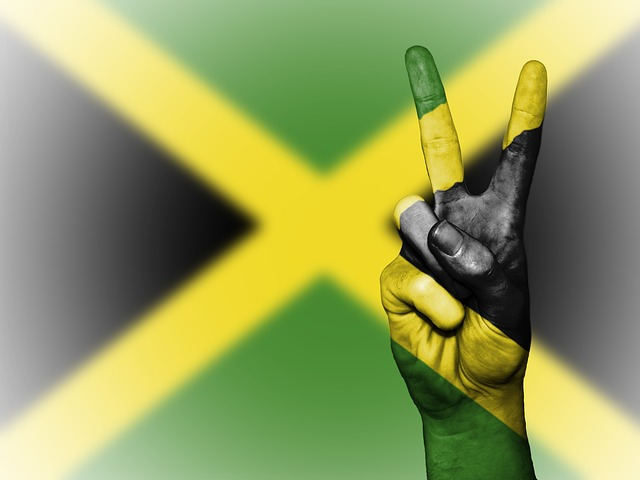 Jamaica, Peace, Hand, Nation, Background, Banner