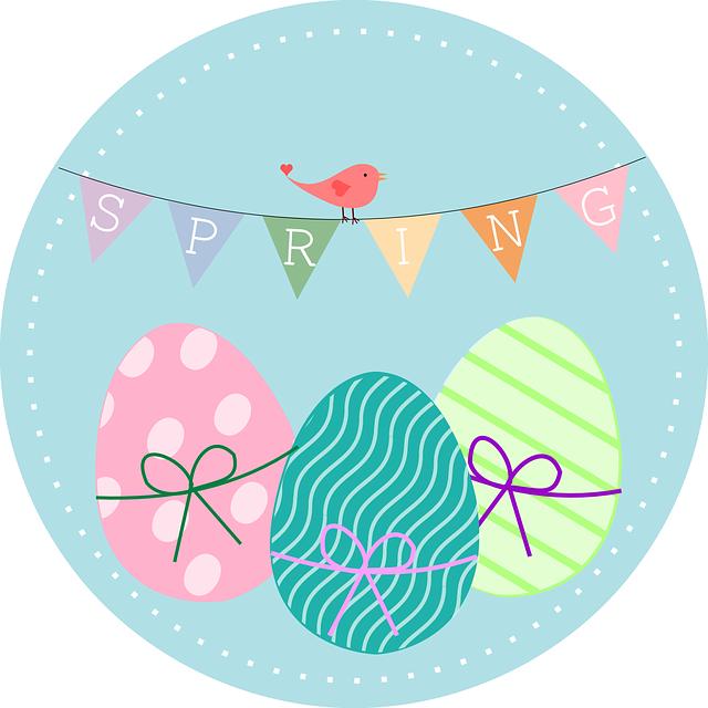 Banner, Spring, Bird, Eggs, Easter