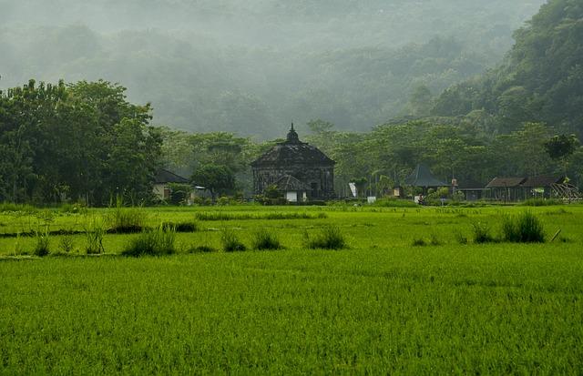 Landscape Nature, Banyunibo Temple Temple Heritage
