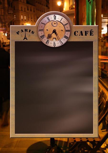 Menu, Board, Blackboard, Clock, Restaurant, Cafe, Bar