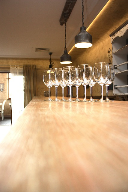 Bar, Architecture, Balat Wooden, Pub, Wine Glasses
