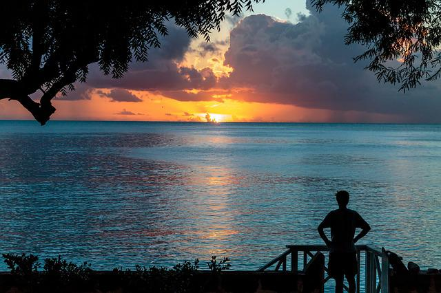 Sunset, Atlantic Ocean, Silhouette, Barbados