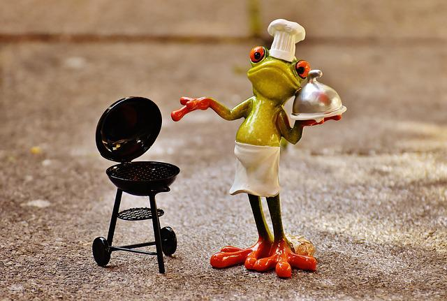 Frog, Cooking, Grill, Figure, Funny, Barbecue