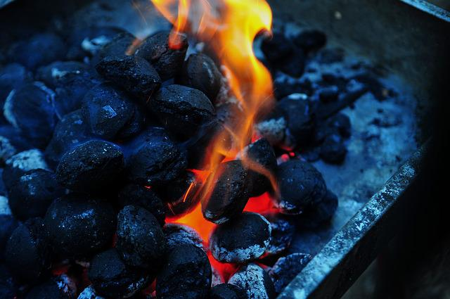 Flame, Charcoal, Barbecue, Barbeque, Fire, Briquette