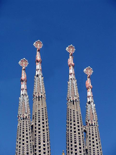 Sagrada Familia, Barcelona, Spain, Church, Catalonia