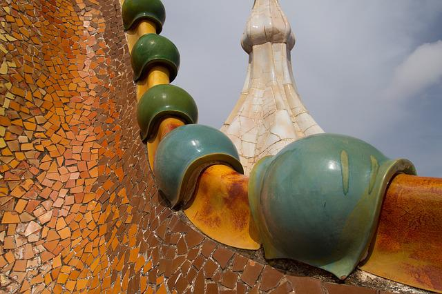 Barcelona, Gaudi, Roof, Architecture