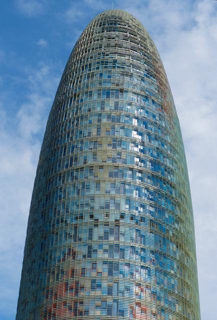 Modern Architecture, Skyscraper, Agbar Tower, Barcelona