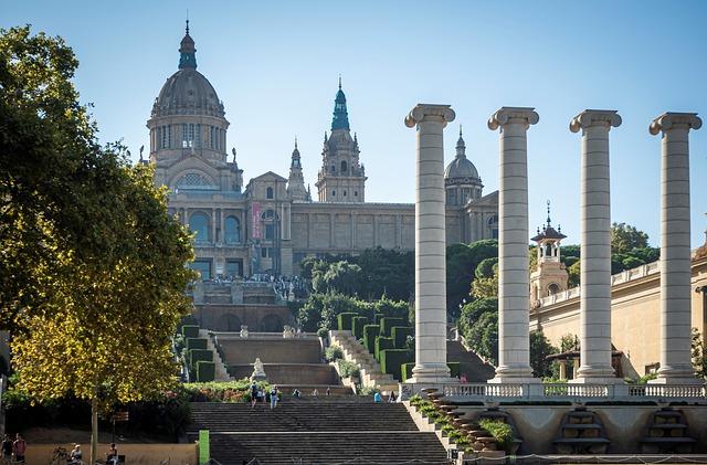 National Museum Of Art Of Catalunya, Barcelona, Streets