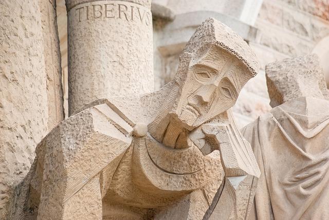 Barcelona, Statue, Gaudi, Sagrada Familia, Basilica